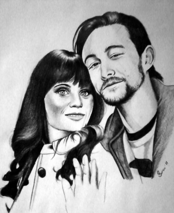 Zooey Deschanel, Joseph Gordon-Levitt by burcu